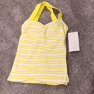 NWT Yellow and White Striped Lululemon Tank Top